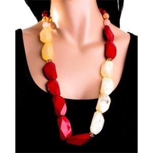 Fashion Large Gemstone Necklace